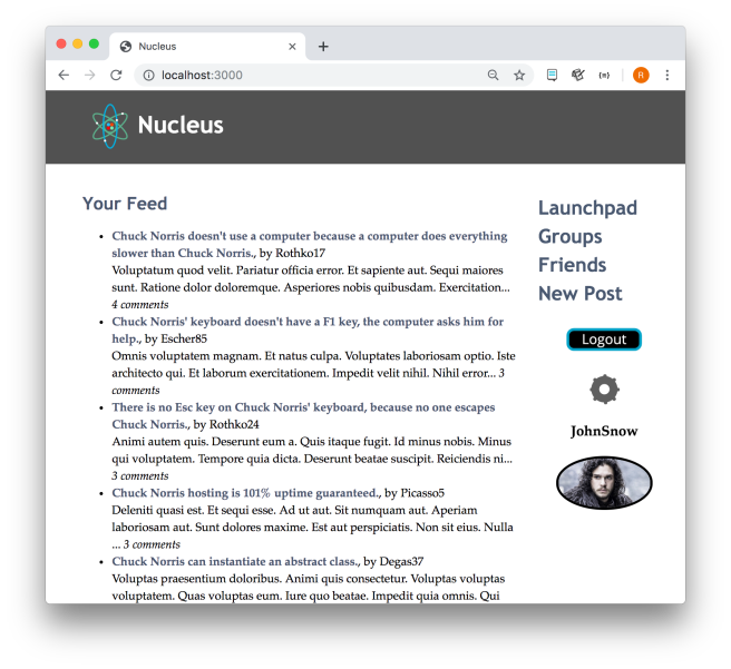 Nucleus: a social media network app – Ryan's Space